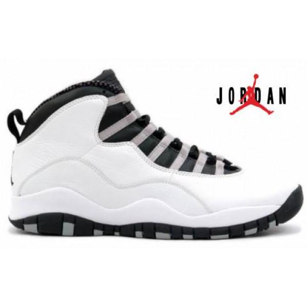 watch 96d54 3c1e2 Cheap Air Jordan 10 Retro White Black Light-034 - Buy Jordans Cheap