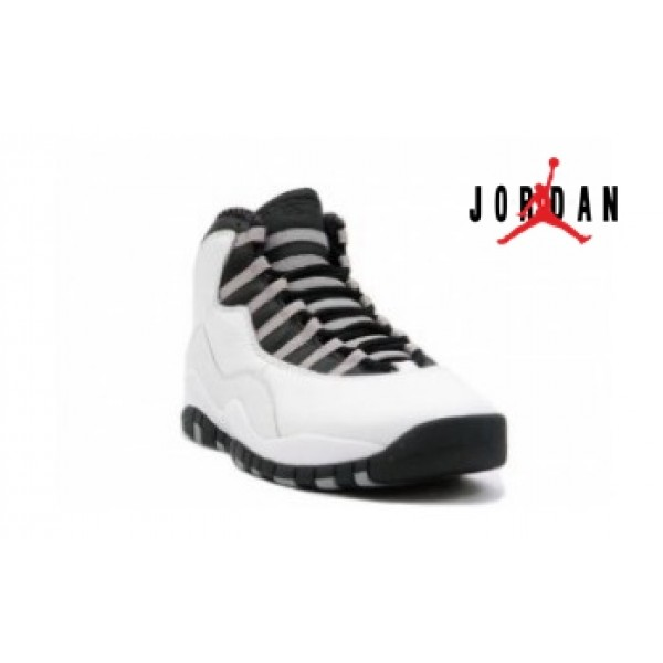 watch e75c3 a37dc Cheap Air Jordan 10 Retro White Black Light-034 - Buy Jordans Cheap