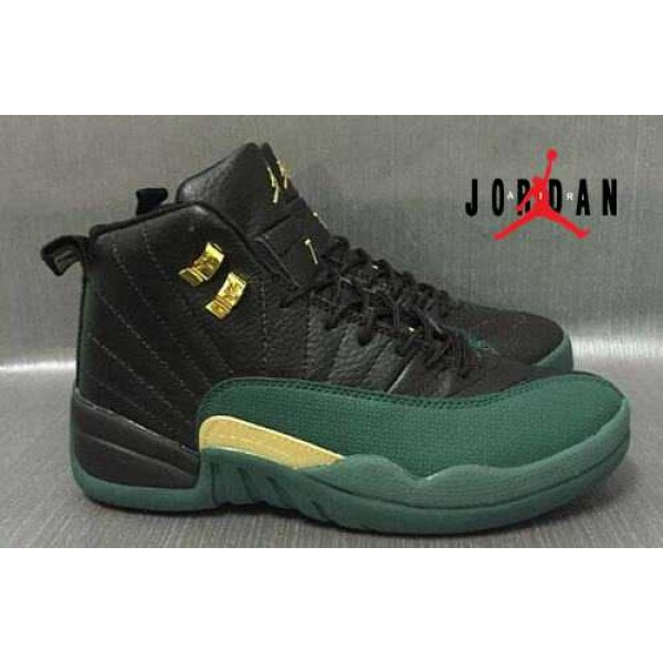 70aeb76557b8e2 Cheap Air Jordan 12 Black Forest Green-098 - Buy Jordans Cheap