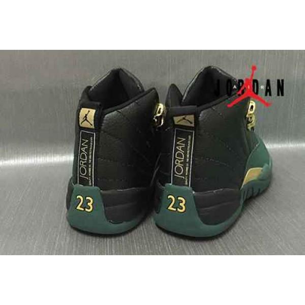 big sale 083a6 94a3d Cheap Air Jordan 12 Black Forest Green-098 - Buy Jordans Cheap