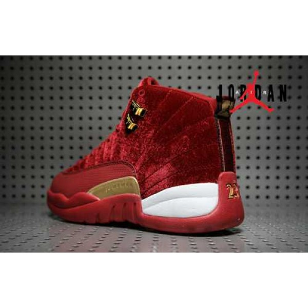 best sneakers 1c235 3ae24 Cheap Air Jordan 12 Wine Red Gold Velvet-097 - Buy Jordans Cheap