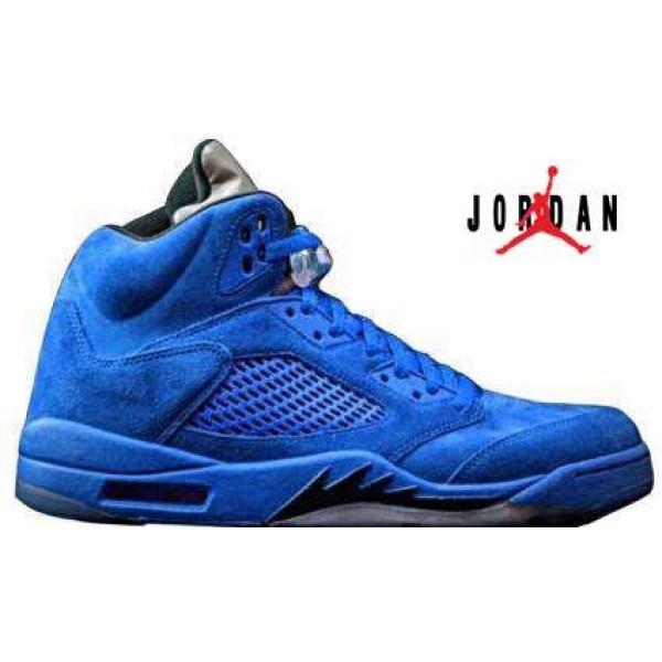 size 40 a991e a12a7 Cheap Air Jordan 5 Retro Blue Suede-085 - Buy Jordans Cheap